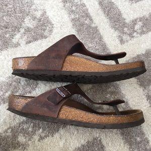 81152d4395e7f Birkenstock Shoes - Birkenstock Thong Ramses Birko-Flor Dark Brown 39